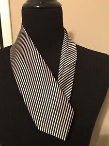 Men-039-s-Fabio-Fazio-Silk-tie-100-Silk-Black-Striped-Dress