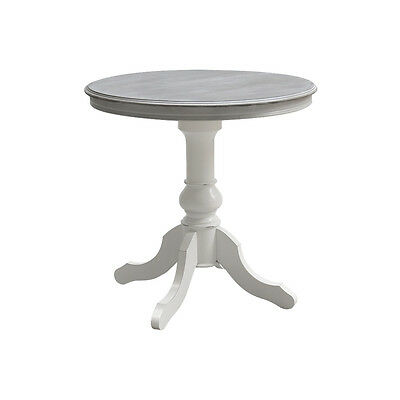 Tavolo Rotondo Bianco Usato.Tavolo Rotondo 80 Cm In Legno Bianco Style Shabby Bellissimo Ebay