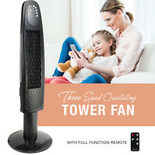 Oscillating 36 Inch 3 Speed Tower Fan with Remote, 4 Hour Timer with Sleep Mode