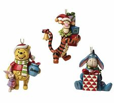 Disney Traditions  Pooh Eeyore & Tigger tree Ornaments Set  NEW 25631