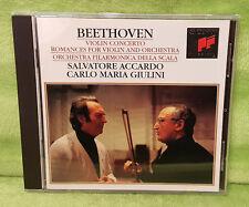 Beethoven Violin Concerto Romances for Violin & Orchestra CD Accardo - Giulini