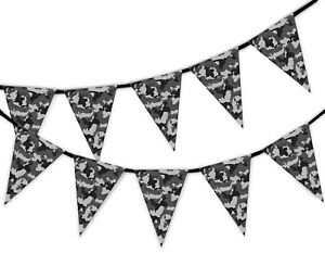 Grey-Classic-Army-Camouflage-Military-Bunting-Banner-15-flags-by-PARTY-DECOR