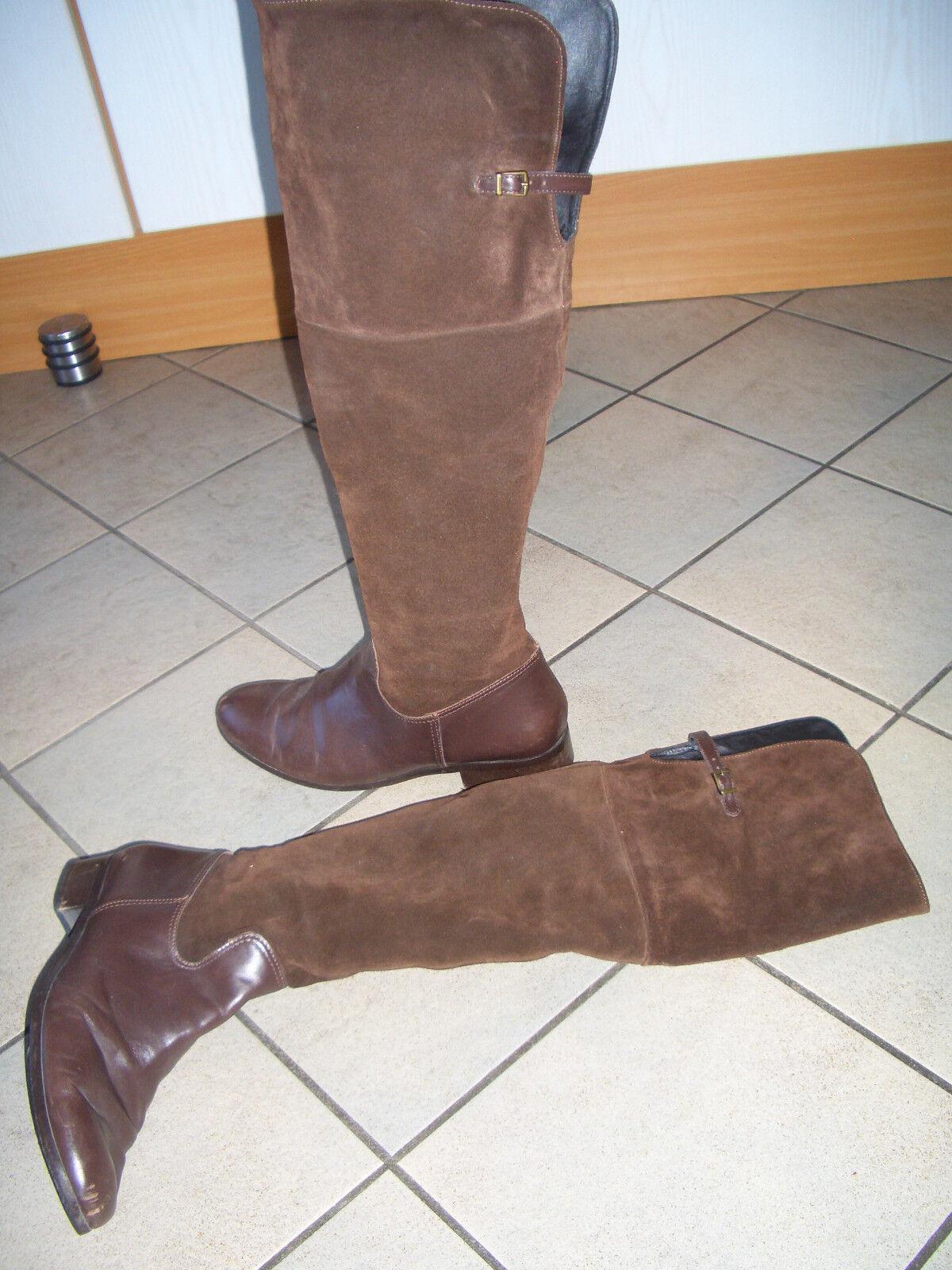 Robin Hood +++ Overknee Stiefel 42 Wildleder + Glattleder Leder
