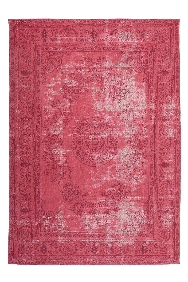 TOP Tapis confectionnées Coton Rétro Vintage Aspect Use Rouge 160x230cm