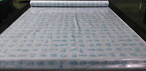 "Clear Vinyl Marine Isinglass 12 Gauge 15 Yard Roll Window Cover Vinyl 54"" Wide"