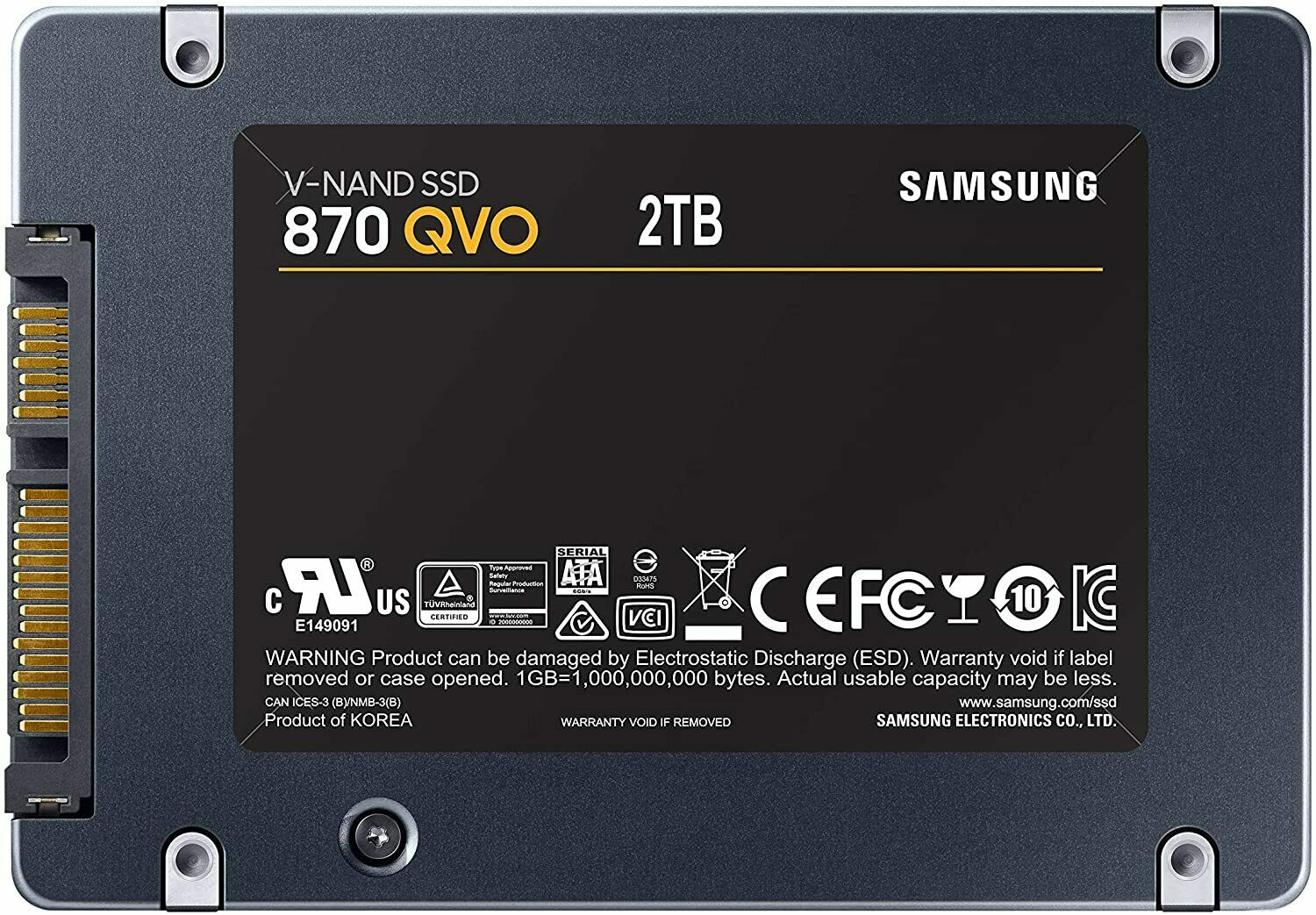 Samsung 870 QVO 2TB Solid State Drive 2.5