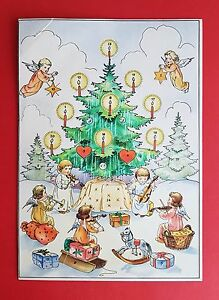 Alte Weihnachtskalender.Details Zu Alter Weihnachtskalender Adventskalender Komplett Mit Allen Türchen F16231