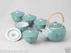 Value hasami porcelain green arabesque kyusu tea pot Green tea pot set