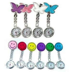 Colorful-Nurse-Clip-on-Fob-Brooch-Pendant-Hanging-Fobwatch-Pocket-Watch-NEW