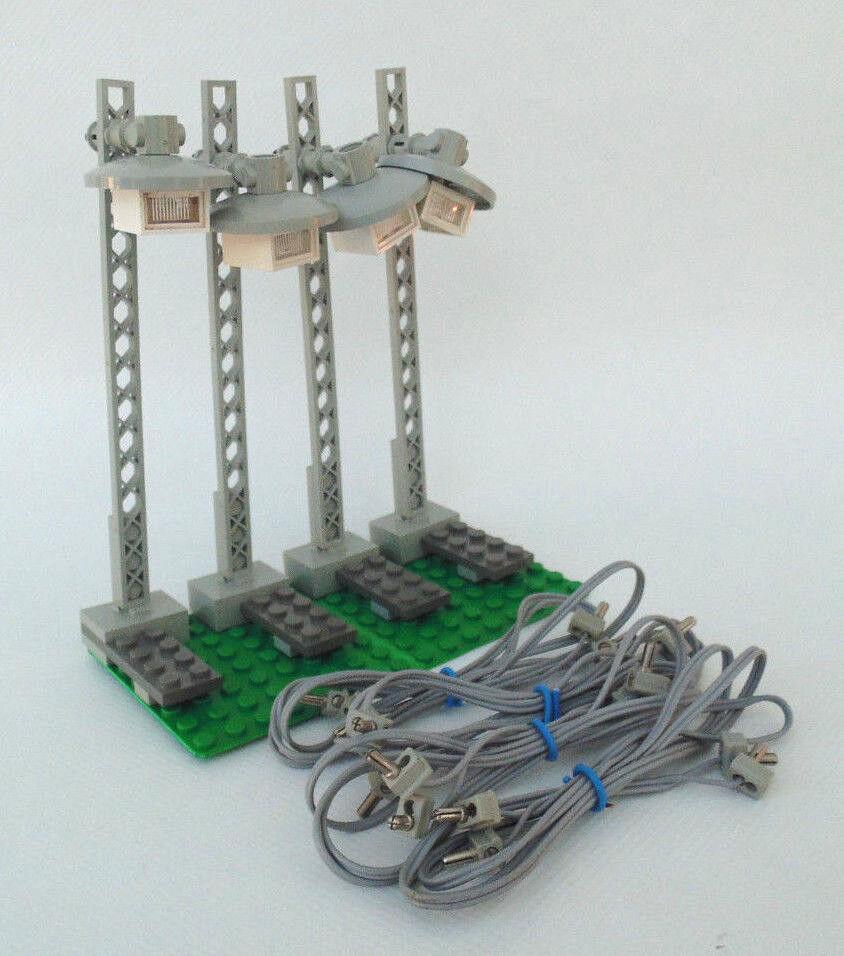 LEGO Eisenbahn 12V 12 Volt,  4 x Lampen, Laterne (7867) Beleuchtung mit Kabel