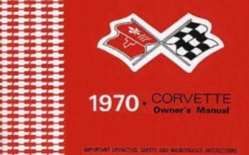 CORVETTE 1970 Owner/'s Manual 70 Vette