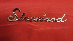 Universal Chromed Trim Emblem Script Supercharged Logo Street Hot Rat Rod Decal
