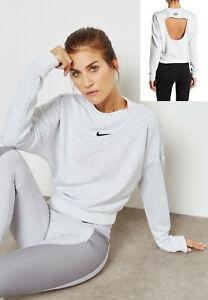 nouvelle saison pourtant pas vulgaire la réputation d'abord Détails sur Nike Femme Court Col XS Gris Noir Pull Sweat