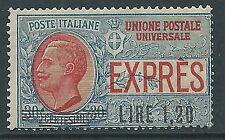 1921 REGNO ESPRESSO SOPRASTAMPATO 1,20 LIRE SU 30 CENT MNH ** - Y107-3