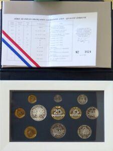 0044 - Coffret Fleurs De Coins - Francs - 1993 - 1 Centime à 100 Francs
