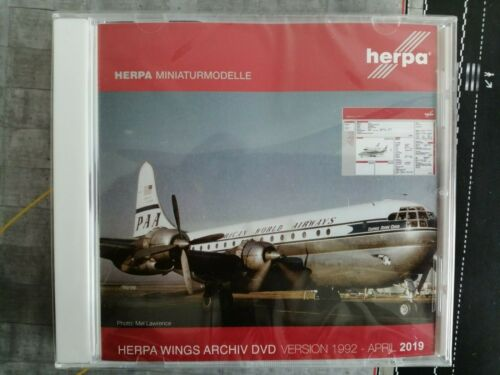 Herpa Wings Archiv CD Datebenbank 2019