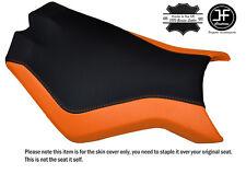 BLACK & ORANGE CUSTOM FITS KTM SUPERDUKE 990 R 07-14 FRONT SEAT COVER DESIGN 2