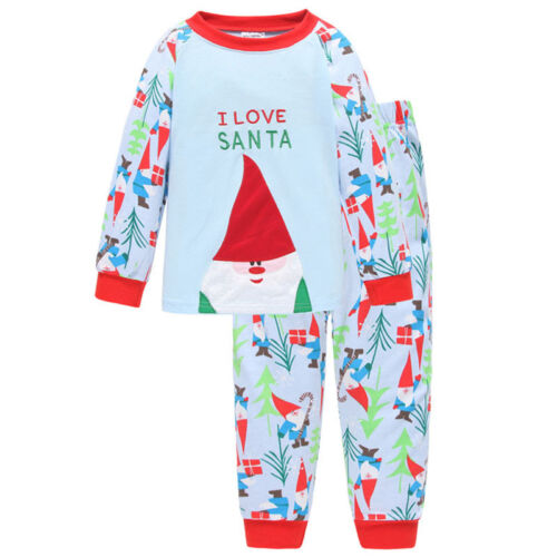 Children Kids Outfit Sets 2PCS Pajamas Nightwear Christmas Costume Sleepwear