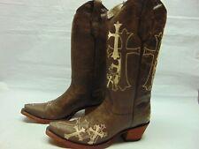 4fc5e88b3ef Women Circle G Fleur L5132 Brown Leather Snip Toe Western Cowgirl ...