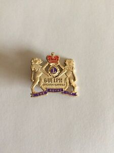 LIONS-CLUB-PIN-GUELPH-ONTARIO-CANADA-THE-ROYAL-CITY