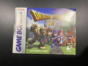 Dragon Warrior I Ii 1 2 Nintendo Gameboy Color Gbc Manual Only No Game Ebay