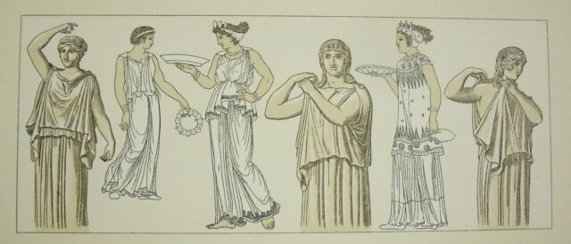Suits Traditional, Greece Antique Carred Del Firmin Didot c1888 Lithography