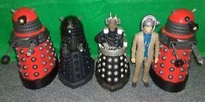 Doctor-Who-Villain-DAVROS-ROBOMAN-DALEK-Action-Figure-Lot-Used