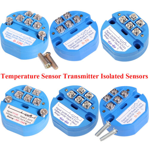4-20MA RTD PT100 SBW Temperature Sensor Transmitter Isolated Sensors