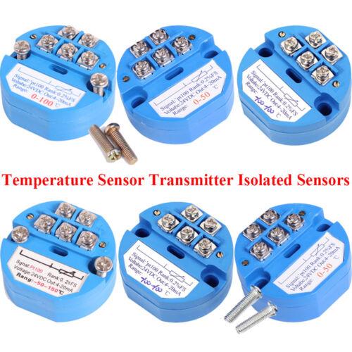4-20MA RTD PT100 SBW Temperature Sensor Transmitter Isolated Sensors