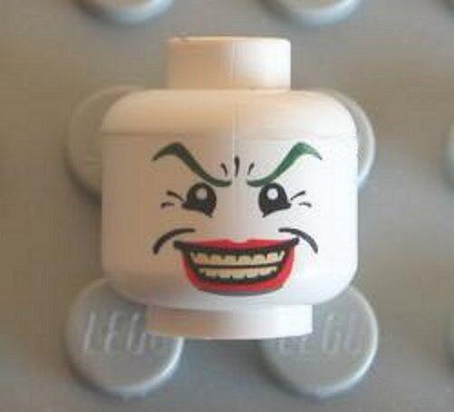 LEGO - Minifig, Head Male Wide Smile w  Red Lips, Crow's Feet (The Joker)
