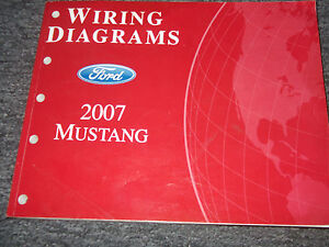 2007 Ford Mustang Electrical Wiring Diagram Service Shop ...