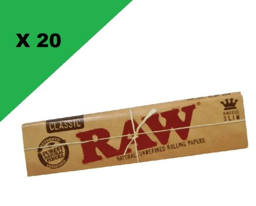 RAW Slim classic lot de 20 carnets de feuille à rouler longue
