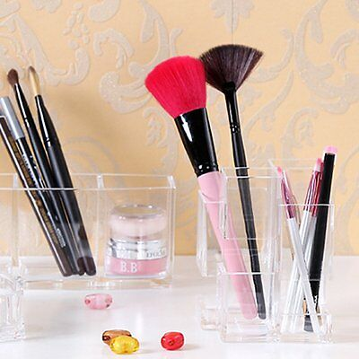 Acrylic Makeup Cosmetic Storage Box Case Holder Brush Pen Organizer Container