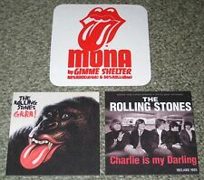The ROLLING STONES Japan NOT FOR SALE 3 x coaster set PROMO official beer mat