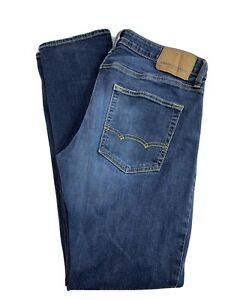 American Eagle Outfitters Men's Next Level Flex Slim Straight Jeans 32 x 34