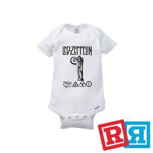 Led Zeppelin Symbols Infant Bodysuit Leg Warmers Baby Shirt Set Shower Gift
