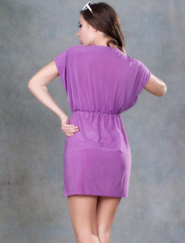 Kaftan V Neck Beach Cover up Purple Bikini Summer Dress Shirt Top One Size NEW