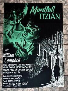 MORDFALL TIZIAN * William Campbell - A1-FILMPOSTER -German 1-Sheet 1964 KRIMI - Hamburg, Deutschland - MORDFALL TIZIAN * William Campbell - A1-FILMPOSTER -German 1-Sheet 1964 KRIMI - Hamburg, Deutschland