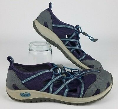 Chaco Outcross Summer Water Shoes Purple Blue Kids Size 5 J180272 Fragrant Aroma Fins, Footwear & Gloves
