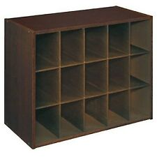 Shoe Organizer Closet Cabinet Rack Storage Shelf 15 Cubby Space Decor Dark  Brown