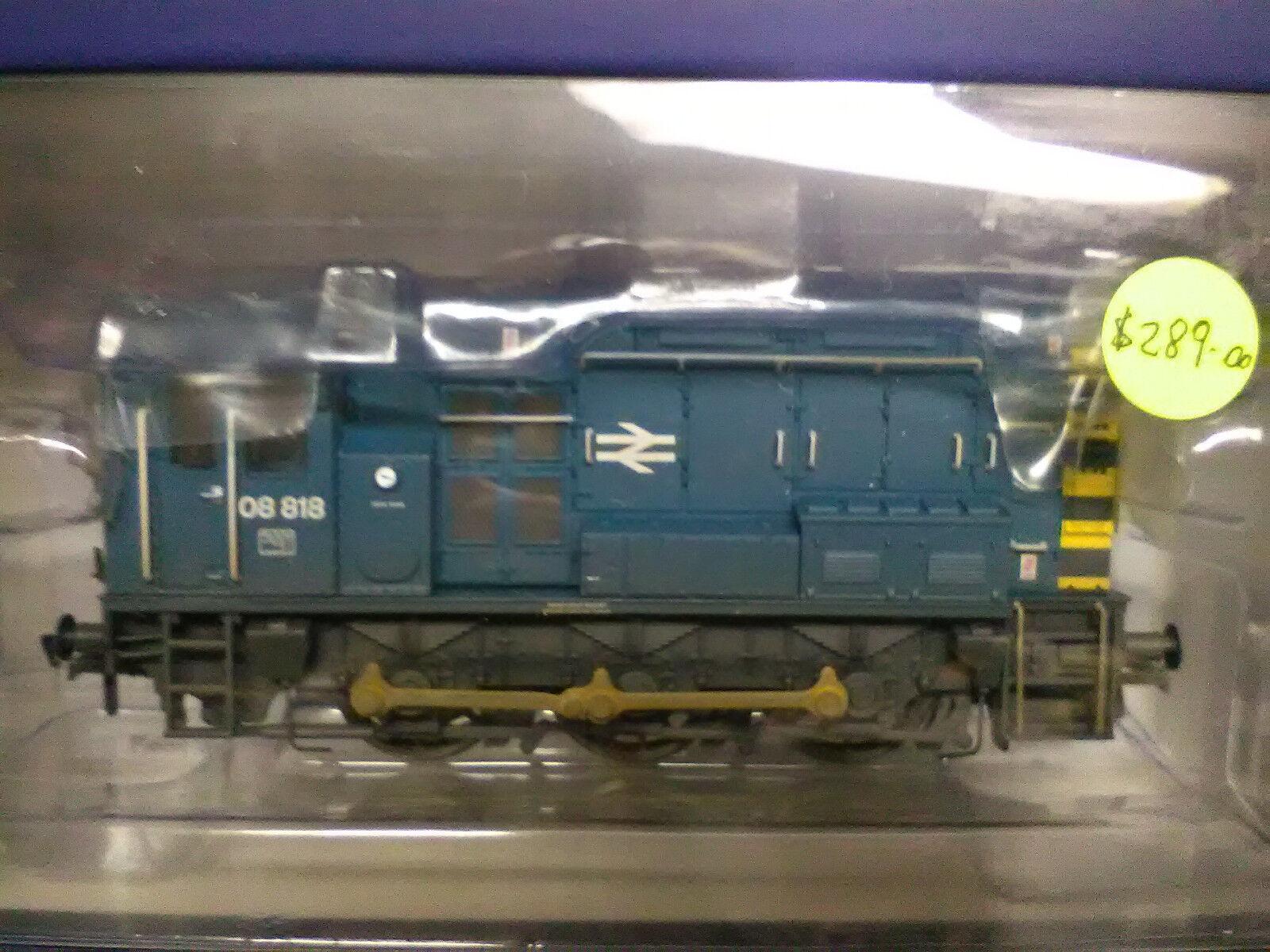 Bachmann ref 32-115B  Class 08 08818 diesel shunter BR bluee weathered wasp BNIB