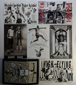 Michael-Jordan-Lot-of-6-NIKE-TRADING-CARDS-PROMOS-SCARCE-amp-RARE-Mars-Blackmon