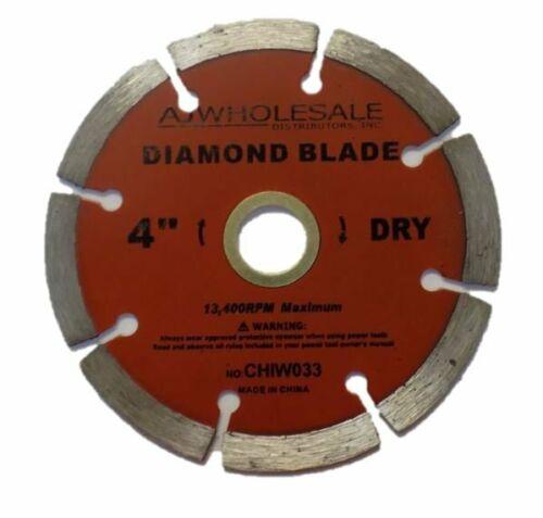 1 Blade 4 In Segmented Dry Cut Diamond Blade For Masonry
