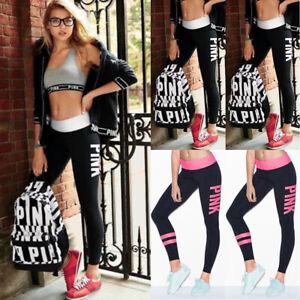 83ac01e6f6a8b2 US STOCK Women Sports Gym Yoga Running Fitness Leggings Pants ...
