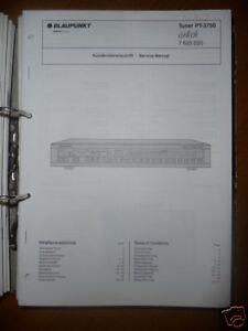 Service-manual Blaupunkt Pt-3750 Tuner,original Eine Lange Historische Stellung Haben Tv, Video & Audio