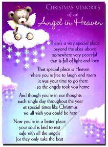 Grave-Card-XMAS-Angel-in-Heaven-FREE-Holder-CMX14-Memorials-amp-Funerals