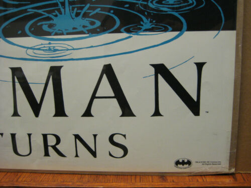Vintage 1991 DC Comics Batman Returns Poster 12378