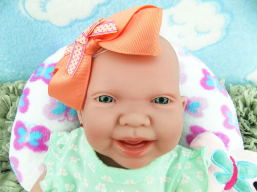 "CUTE BABY GIRL SMILING DOLL ALIVE REBORN BERENGUER 15/"" VINYL SILICONE LIFE LIKE"