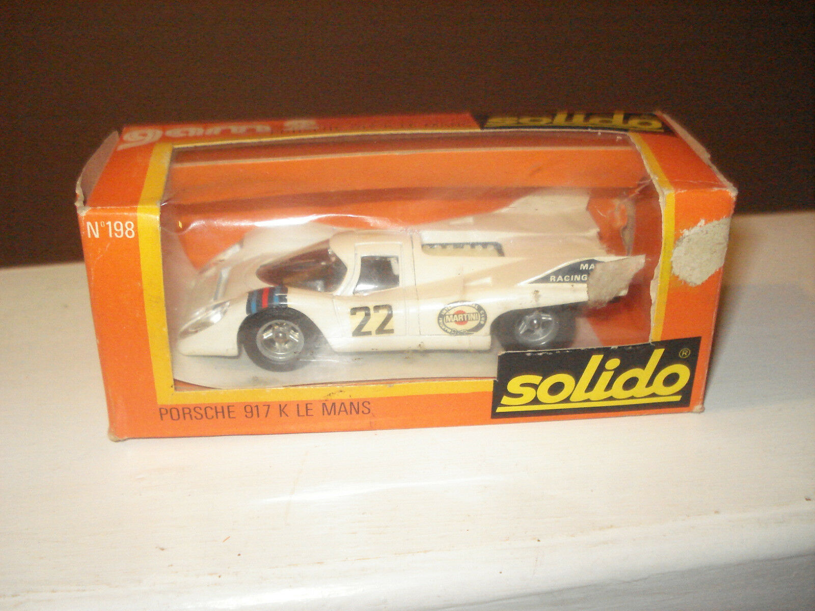 RARE Vintage 1 43 Boxed Solido Porsche 917K Le Mans; No 198 Excellent Condition