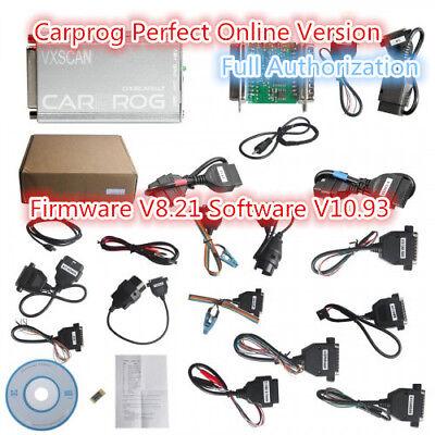 Carprog Full Perfect Online Version Firmware V8.21 Software V10.93 with all Cabl